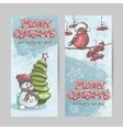 set vertical banners for christmas and new vector image