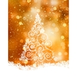 Shinny Christmas Tree EPS 8 vector image vector image