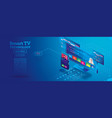 smart tv technology isometric concept remote vector image vector image