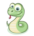 Smiling snake vector image vector image
