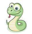 Smiling snake vector image