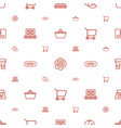 store icons pattern seamless white background vector image vector image