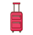suitcase handle and wheels accessory vector image