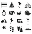 thailand icons set simple style vector image vector image