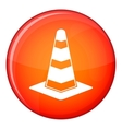 Traffic cone icon flat style vector image vector image