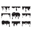 various dripping black paint vector image
