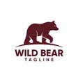 vintage bear logo template vector image vector image
