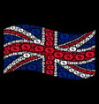 waving british flag collage of discount coupon vector image vector image