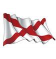 waving flag state alabama vector image