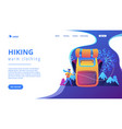 winter hiking concept landing page vector image