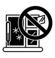 winter window icon simple style vector image