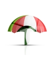 Umbrella protection logo vector image