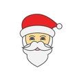 Santa Claus face flat line icon vector image
