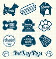 Pet Dog Name Tag Labels and Icons