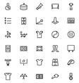 Football Line Icons 3 vector image