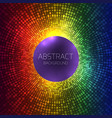 abstract rainbow background with halftones and vector image