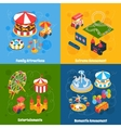 Amusement Park Isometric vector image vector image