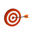 arrow hitting target symbol flat isometric icon vector image vector image