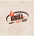 bbq and grill stylized symbol label and emblem vector image vector image