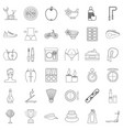 beauty icons set outline style vector image vector image