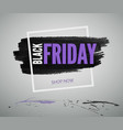 black friday sale realistic web banner vector image