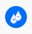 blood drop liquid plus minus white glyph icon in vector image