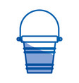 blue shading silhouette of toy bucket beach kit vector image vector image