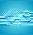 bright blue abstract hi-tech background vector image vector image