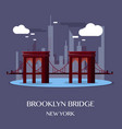 brooklyn bridge new york vector image vector image