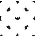 business handshake pattern seamless black vector image vector image