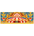 carnival banner with vintage circus vector image vector image