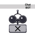 cartoon robot face silent cute emotion chat bot vector image