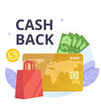 cashback and payment of purchase flat vector image