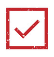 check mark rubber stamp accepted red steal in vector image vector image