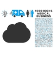 Cloud Icon with 1000 Medical Business Symbols vector image vector image