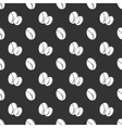 Coffee seed seamless pattern vector image vector image