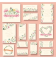 colorful greeting wedding invitation card set Flow vector image vector image