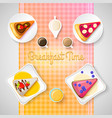 colorful sweet time concept vector image