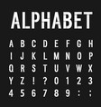 creative paper alphabet vector image vector image