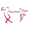 Dancing couple logo vector image