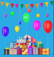 decorated background with gift boxes vector image