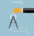 drawing divider vector image
