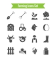 Farming Harvesting and Agriculture Icons Set vector image