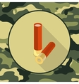 flat icon ammoitem in camouflage vector image