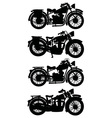 Four vintage motorcycles vector image vector image