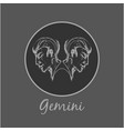 gemini astrological zodiac symbol horoscope sign vector image