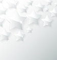 glass star with shadow in gray background vector image vector image