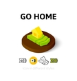Go home icon in different style vector image vector image