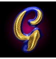golden and blue letter g vector image vector image
