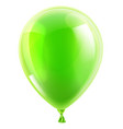 green birthday or party balloon vector image